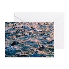 Triathlon swimmers - Greeting Card