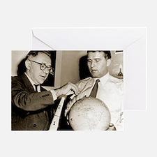 Wernher von Braun and Willy Ley - Greeting Card