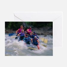 Whitewater rafting - Greeting Card