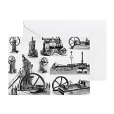 19th century steam engines - Greeting Card