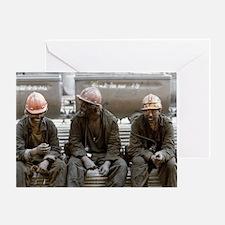 Coal miners - Greeting Card