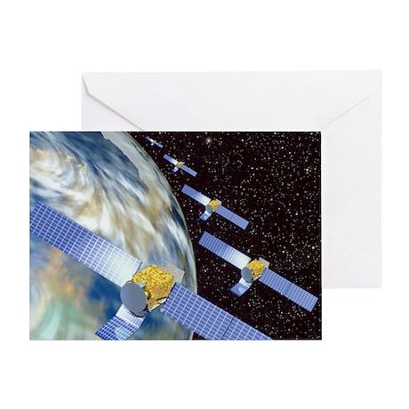 Communication satellites - Greeting Card