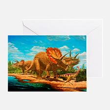 Cretaceous dinosaurs - Greeting Card