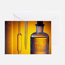 Etched laboratory glassware - Greeting Card