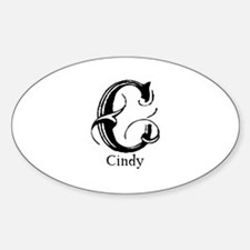 Cindy: Fancy Monogram Oval Decal