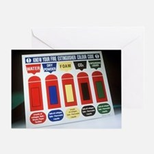 Fire extinguisher codes - Greeting Card