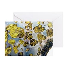 Fukeng meteorite - Greeting Card