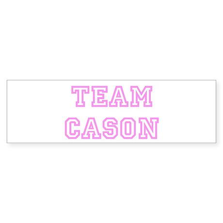 Pink team Cason Bumper Sticker
