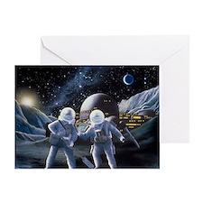 Lunar survey team - Greeting Card
