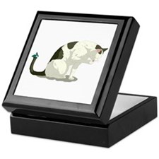 Butterfly and Bathing Cat Keepsake Box