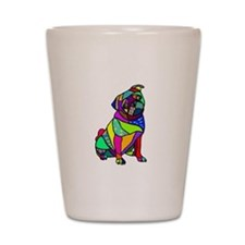 Designed Pug Shot Glass
