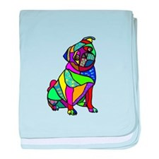 Designed Pug baby blanket