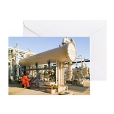 Oil refinery worker - Greeting Card