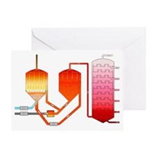 Oil refining process - Greeting Card