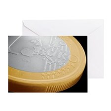 One euro coin, SEM - Greeting Card