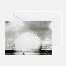 Mushroom cloud of water - Greeting Card
