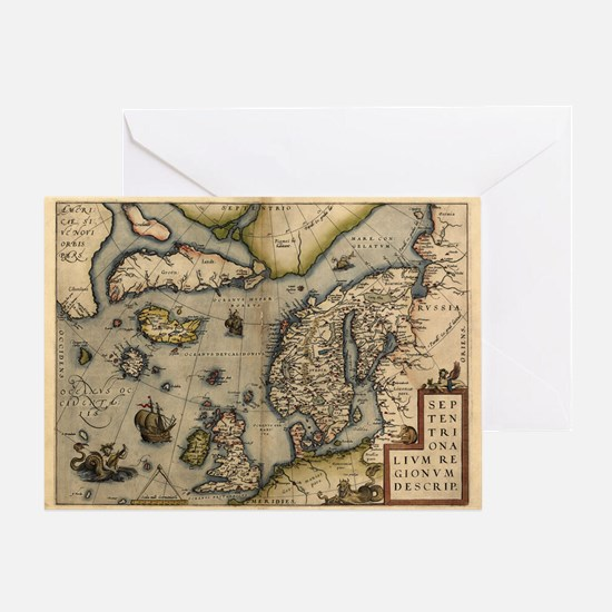 Ortelius's map of Northern Europe, 1570 - Greeting