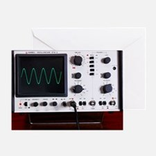 Oscilloscope wave form - Greeting Card