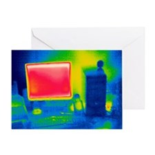 Personal computer, thermogram - Greeting Card
