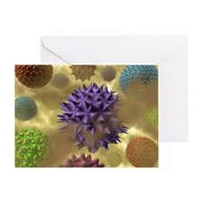 Pollen and dust, artwork - Greeting Card
