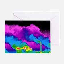 Power station, thermogram - Greeting Card