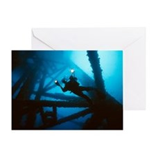 Scuba diver - Greeting Card