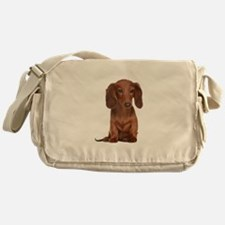 Painted Red Doxie Messenger Bag