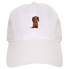 Painted Red Doxie Baseball Cap