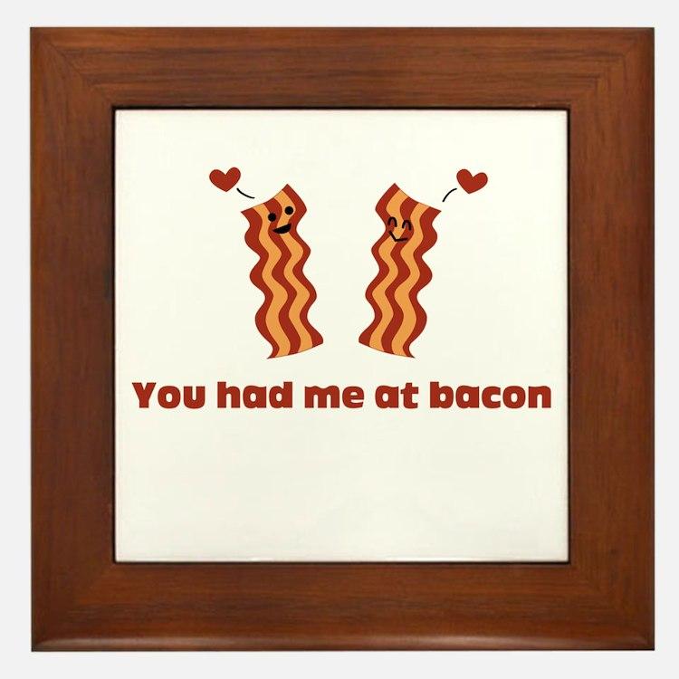 Bacon Love Framed Tile