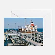 St Petersburg oil terminal, Russia - Greeting Card