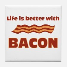 Life is better with Bacon.png Tile Coaster