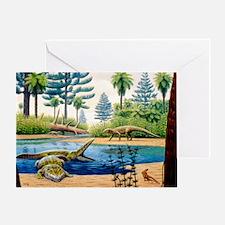 Triassic environment - Greeting Card
