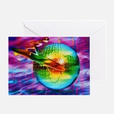 Surfing cyberspace - Greeting Card