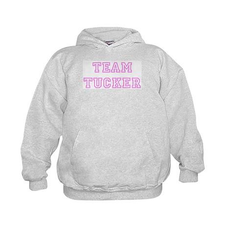 Pink team Tucker Kids Hoodie