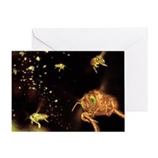 Swarm of bees - Greeting Card