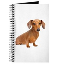Painted Red Doxie Smooth Hair Journal
