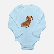 Painted Red Doxie Smooth Hair Long Sleeve Infant B