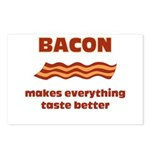 Bacon makes everything tastier Postcards (Package