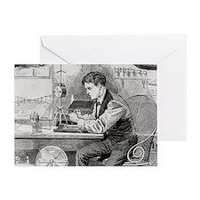 Thomas Edison, US inventor - Greeting Card