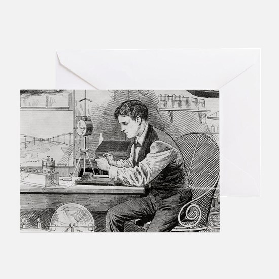 Thomas Edison, US inventor - Greeting Card