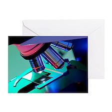 Light microscope - Greeting Card