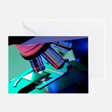 Light microscope - Greeting Card