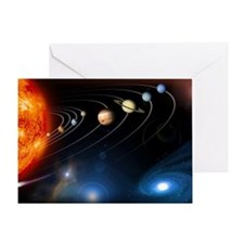 Solar system planets - Greeting Card
