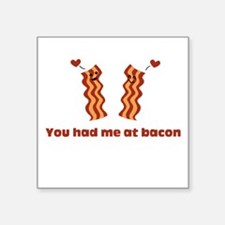 "Bacon Love Square Sticker 3"" x 3"""