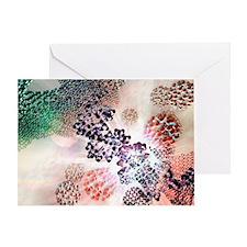 DNA nanotechnology, computer artwork - Greeting Ca