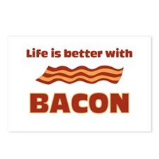 Life is better with Bacon.png Postcards (Package o