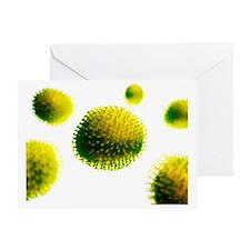 Flu virus, artwork - Greeting Card