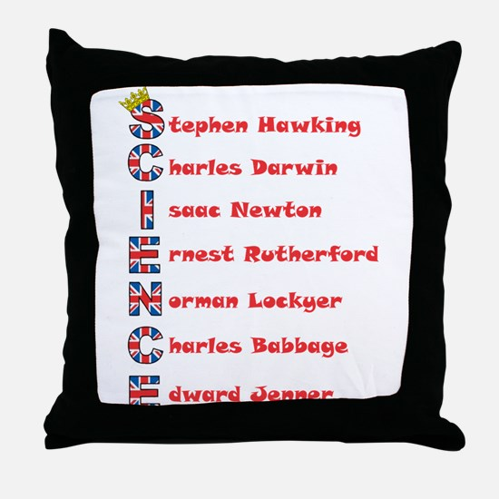 Science Thanks The English! Throw Pillow