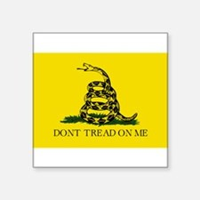 "Don't Tread On Me Square Sticker 3"" x 3"""