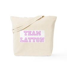 Pink team Layton Tote Bag
